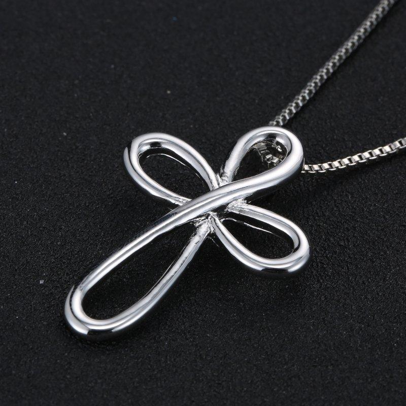 Chic Love Horse Footprint Heart Cross Pendant Women Men Crystal Necklace Gifts