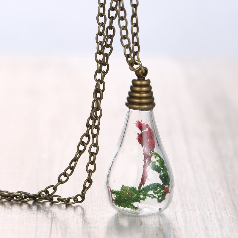 handmade retro real dried flower seagrasses glass bottle
