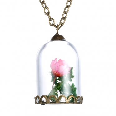 Fashion glass flower necklace for wholesale