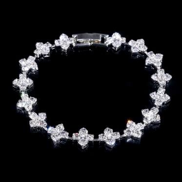 简约女士水钻元素水晶手链韩国新娘饰品结婚礼物