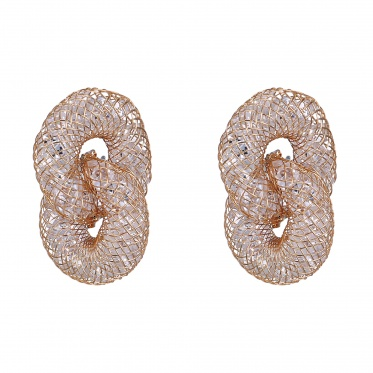 Hot Simple Fashion Jewelry Double Round Shape Stud Earrings Woman Man Gift