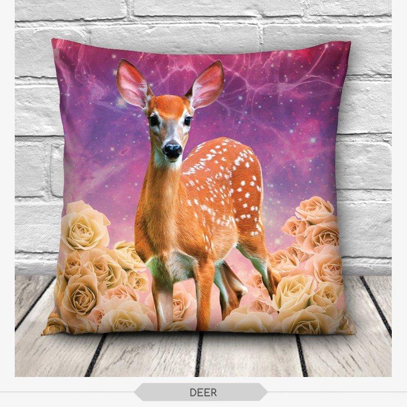 3D Print Cute Animal Pillow Throw Sofa Cars Pillow case Cushion Cover Home Decor eBay