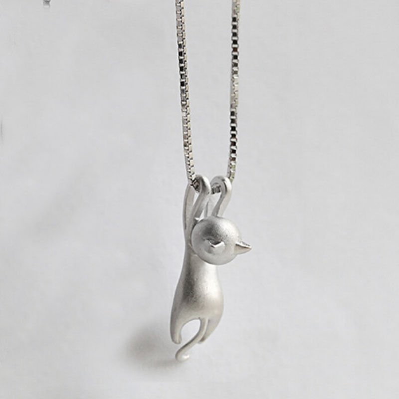 Silver Plated Tiny Cute Animal Pendant Odd Women No Chain Necklace Jewellery