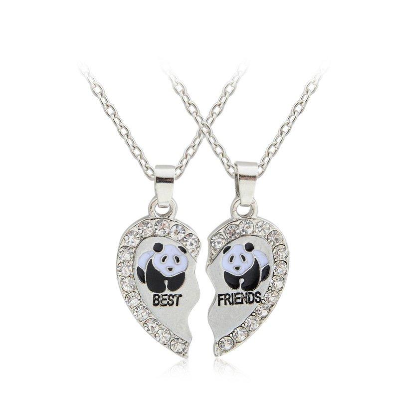 2pcs animals best friends friendship pendant