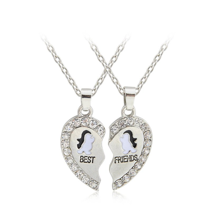 Friendship Pendant Necklace 2pcs animals best friends heart friendship pendant necklaces sets 2pcs animals best friends heart friendship pendant necklaces audiocablefo