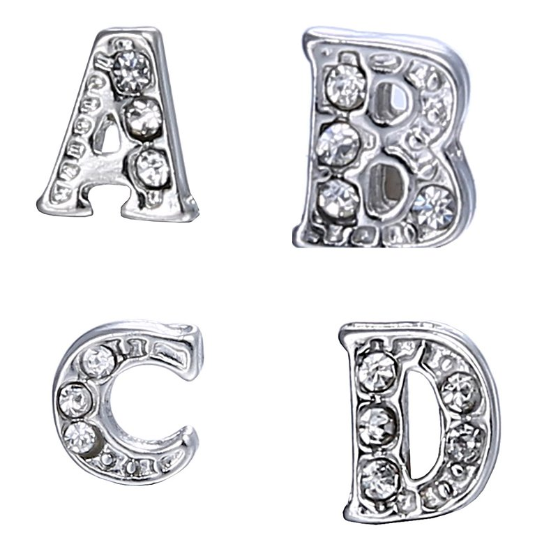 1 pc A-Z Crystal Letter Alphabet DIY Floating Charms for