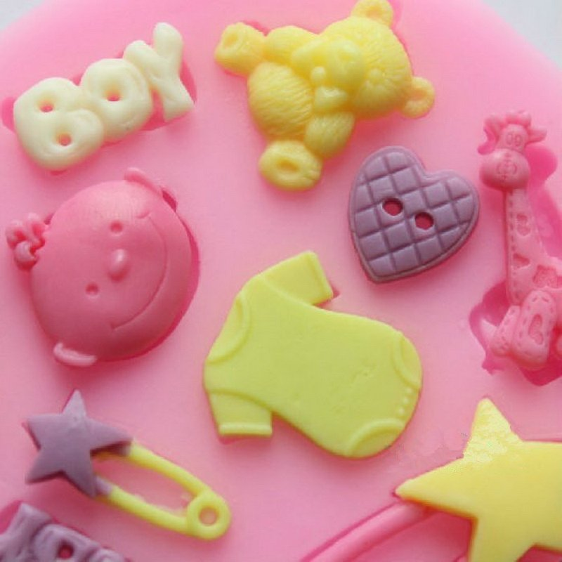 Cake Decorating Baby Mould : Baby Flower Silicone Mold Fondant Cake Pastry Chocolate ...