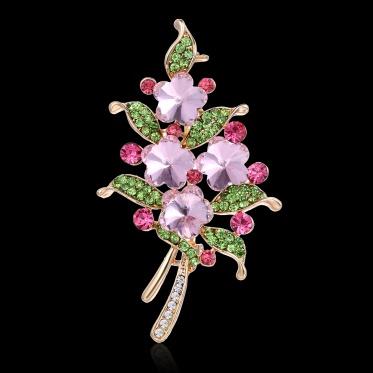 Hot Fashion Jewelry Flower Imitation Pearls/ Glass Rhinestone Woman Lady Elegant Brooch
