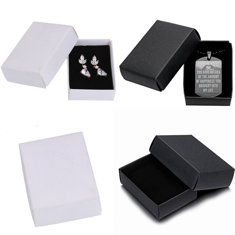 wholesale jewelry gift paper boxes ring earring necklace