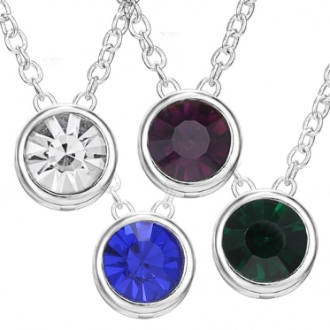 10pcs New Fashion Woman Man Jewelry White/Green/Blue/Red Rhinestone Pendant Necklace