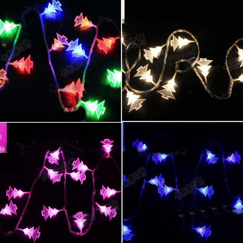 How Do U String Lights On A Christmas Tree : Festive LED Christmas Tree String Fairy Battery Lights Changing Xmas Party Decor eBay