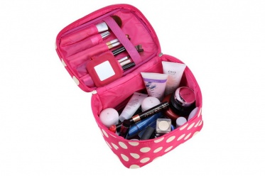 Lovely Women Pop Makeup Cosmetic Case Toiletry Bag Casual Giftbox Organizer Box