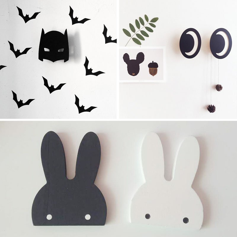 Cute Animal Cloud Hook Wall Hangers Coat Rack Organizer