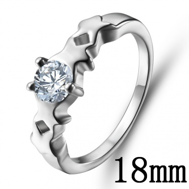 Europe And America Fashion Woman Lady Elegant Jewelry Silver Zircon Ring