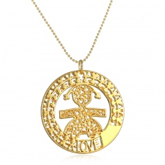 Gold Silver Lady Womens Crystal Starry Pendant Necklace Chain Jewellery Girl