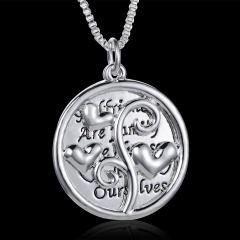 Men Women Fashion Lover Gift Choker Collar Statement Bib Long Chain Necklace Pendant Heart Silver