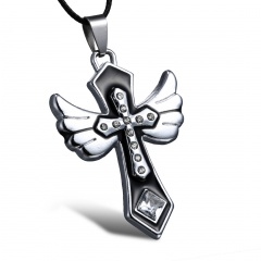 Fashion Stainless Steel Guitar Cross Pendant Necklace Jewelry Charm Cross