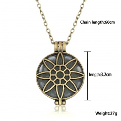 Glow In The Dark Pendant Necklace Magic Steampunk Pretty Fairy Locket Party Gift Hollow