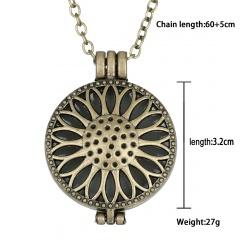Fashion Glow In The Dark Pendant Necklace Magic Steampunk Pretty Fairy Locket Party Sun Flower