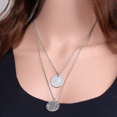 Fashion Men Women's Handmade Letters Pendant Necklace Chain Jewelry Round