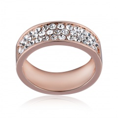 Rose Gold Diamond Fashion Women's Rings Jewelry 17