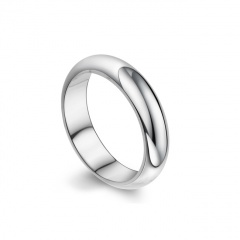 Silve Simple Stainless Steel Men's Rings 18mm