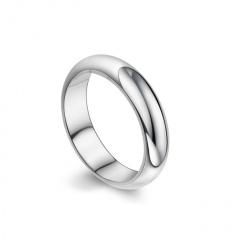 Silve Simple Stainless Steel Men's Rings 18mm