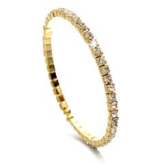 Wedding Bridal Women Full Crystal Rhinestone Bracelet Cuff Bangle Jewelry Gift 1 Row