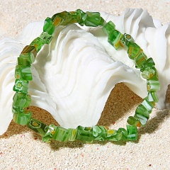 RINHOO Multicolor Natural Stone Charm Bracelets & Bangles Beaded Stretch Elastic Bracelet Femme for Women Female Jewelry green
