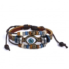 Coffee Multilayer Alloy Beads Bracelet Coffee
