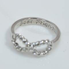 Fashion Simple Infinite Ring Gold Silver Alloy Ring for Women Wholesale Silver