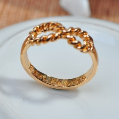 Fashion Simple Infinite Ring Gold Silver Alloy Ring for Women Wholesale Gold