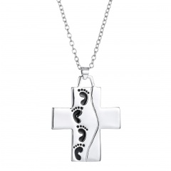 Fashion Letters Cross Words Pendant Fashion Feet Men Women Party Jewelry Gifts Cross