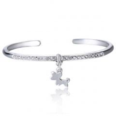 Fashion Alloy Open with Rhinestone Dangle Simple Bracelet Bangle Jewelry Wholesale Horse
