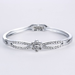 Rinhoo Fashion Korean jewelry wholesale fashion double ring matte rose gold bangle bracelet female bracelet bangle1