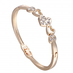 Rinhoo Fashion Korean jewelry wholesale fashion double ring matte rose gold bangle bracelet female bracelet bangle2