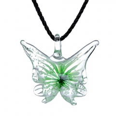 Fashion Lampwork Murano Glass Butterfly Animals Necklace Pendant Starfish Jewelry Hot Green