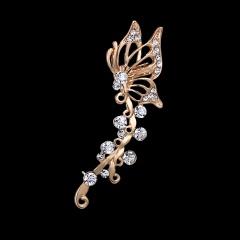Fashion Women Crystal Diamond Butterfly Left Ear Earrings Jewelry Style-4