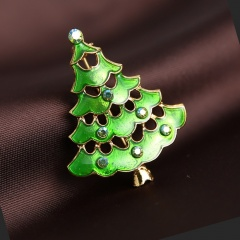 Christmas Tree Crystal Brooch Pin Women Jewelry Tree