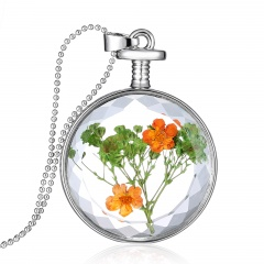 Fancy Dandelion Seeds Dried Flower Glass Bottle Wishing Pendant Necklace Women Babysbreath 2