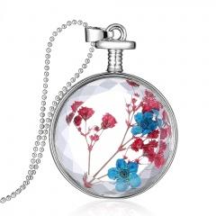 Fancy Dandelion Seeds Dried Flower Glass Bottle Wishing Pendant Necklace Women Babysbreath 3