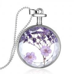 Fancy Dandelion Seeds Dried Flower Glass Bottle Wishing Pendant Necklace Women Babysbreath 1