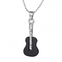 Fashoin Silver Alloy Pendant Chain Necklace Jewelry Wholesale Guitar