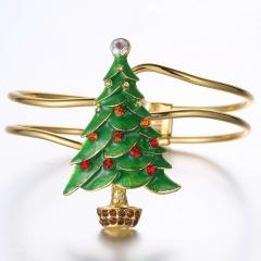 Christmas Series Gold Bangle Adjustable Jewelry Wholesale christmas tree