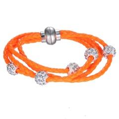 Wholesale Fashion Beads Braclet Rhinestone Beads Bracelet Yellow