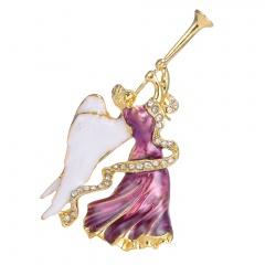 Rinhoo Rhinestone Tree Charms Pendants Brooch Women Girl Brooch Pins Home Decoration gift Jewelry Accessories Angel