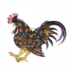 Rinhoo Chicken brooches for women gift crystal brooches jewelry brooch pins yellow