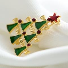 Rinhoo gift snowman Santa Claus wreath Bell Brooches Pins collar Wedding Jewelry new year gift women brooch Christmas tree1