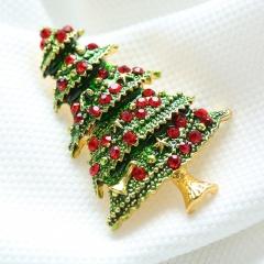 Rinhoo Rhinestone Tree Charms Pendants Brooch Women Girl Brooch Pins Home Decoration gift Jewelry Accessories Christmas tree