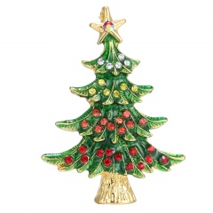Rinhoo Children socks brooches pins crystal Brooch Gift Clothing Accessories jewelry Tree Brooches Pins for women family party gifts Home Decoration Christmas tree